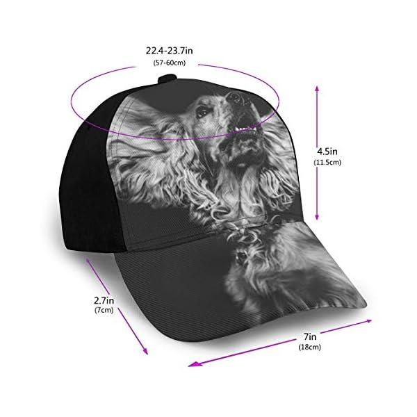 English Cocker Spaniel Dog Classic Baseball Cap Men Women Dad Hat Twill Adjustable Size Black 2