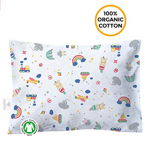 Organic Toddler Pillowcase – 100% Organic Cotton – Hypoallergenic Super Soft Safe and Comfortable – No Harsh Chemicals…