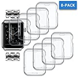 ANCOOL for Apple Watch Cover All-around Soft Clear TPU Protective Case for Apple Watch Series 3 Series 2 (42mm 8PCS Pack)