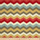WAVERLY Sun N Shade Panama Wave Outdoor Fabric, Peachtini