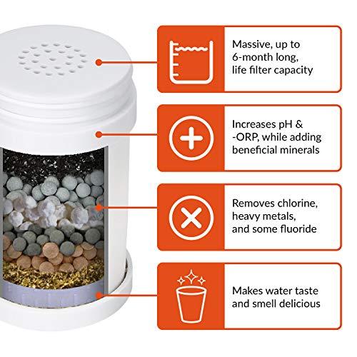 Filtro de 8 fases para grifos. Sistema de filtrado de agua para grifos. Elimina cloro, fluoruro, bacterias, virus, químicos, pesticidas y cal.