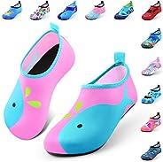 DigiHero Kids Water Shoes-Quick Dry Non-Slip Water Skin Barefoot Swim Water Shoes Children Aqua Socks for Beac
