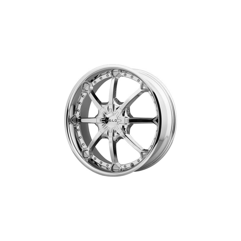 Helo HE871 22x9 Chrome Wheel / Rim 6x135 & 6x5.5 with a 15mm Offset and a 106.25 Hub Bore. Partnumber HE87122967215