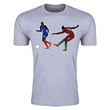 264fbf2318a8c Eder Goal Euro 2016 Cartoon T-Shirt (Grey): Amazon.co.uk: Sports ...