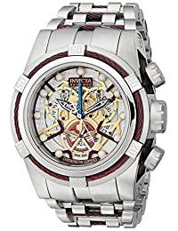 Invicta Men's 13749 Bolt Reserve Chronograph Gold Tone and Beige Dial Stainless Steel Watch