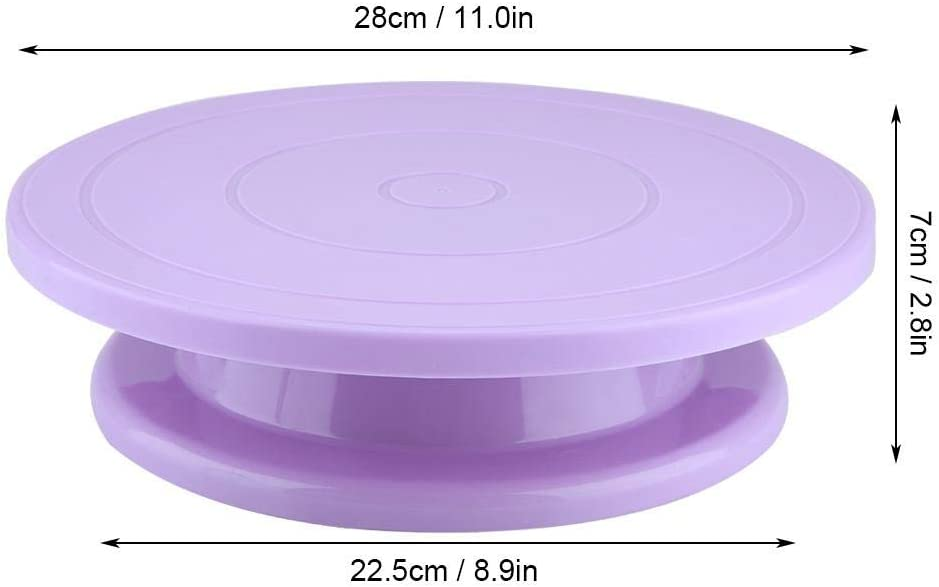 Cake Decorating Supplies Kit Cake Turntable Decorating Rotating Stand Revolving Stand Pastry Baking Decoration Tool Set White