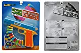 Toy Gun Play Set By Zahar Toys: Classic Colt m1911 Pistol, 10 Soft Fluorescent Bullets And Animal Rings, Tiger And Giraffe, Realistic Replica Gun