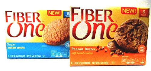 Fiber-One-NEW-COOKIE-FLAVORS-VARIETY-PACK-FREE-19-oz-Beverage-Bottle-3-Boxes-of-PEANUT-BUTTER-SOFT-BAKED-COOKIES-3-Boxes-of-SUGAR-CRUNCHY-COOKIES-6-Bars-Per-Box-6-Pack