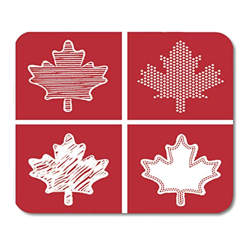 Country Desk Maple (Emvency Mouse Pads Flag Red Canada Maple Leaf White Canadian Hockey Pattern Mouse Pad for notebooks, Desktop Computers mats 16