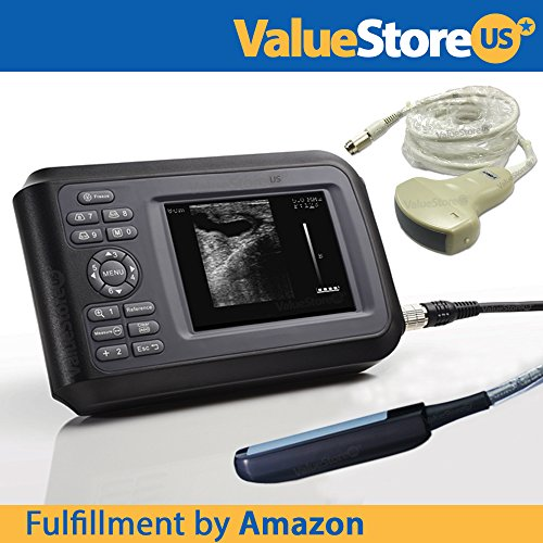 (Portable Ultrasound Scanner Veterinary Pregnancy V16 with 7.5 MHz Rectal Probe & 3.5 MHz Convex Probe for Large & Small Animals.)