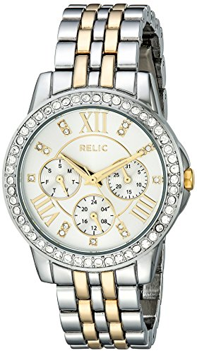 (Relic Women's Layla Quartz Two-Tone Stainless Steel Dress Watch, Color: Silver and Gold-Tone (Model: ZR15753))