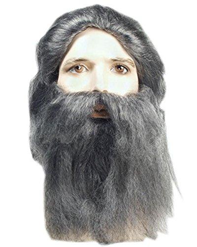 [Coal Miner Wig And Beard Set White] (Coal Miner Costume)