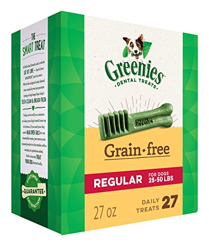GREENIES Grain Free Dental Dog Treats, Regular, 27 Treats, 27 (Who Is In The Dog House)