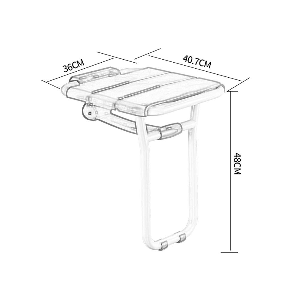 Can Withstand 150KG Color : White BEAUTY--shower stool Elderly Bathing Auxiliary Seat Non-Slip Folding Chairs Wall Mounting