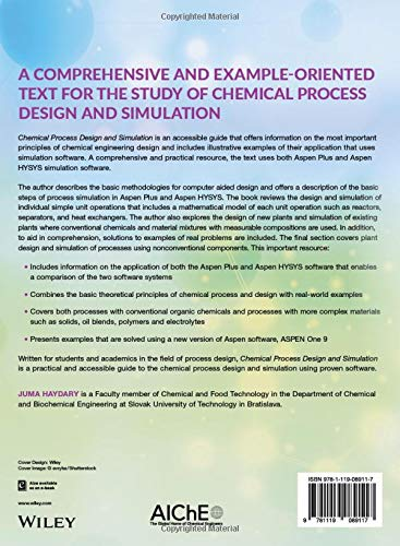 Chemical Process Design and Simulation: Aspen Plus and Aspen