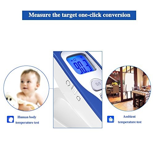 Baby Forehead Thermometer,MIQIKO No-Contact Clinical Infrared Digital Thermometer for /Kids /Adults /Elderly, Forehead /Object Mode,32 Memory, with Instant Reading and Improved Accuracy by MIQIKO (Image #1)