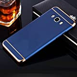Mobiclonics Ultra-thin 3in1 Electroplate Metal Texture Plastic Hard Back Case Cover for Samsung Galaxy On8-Blue