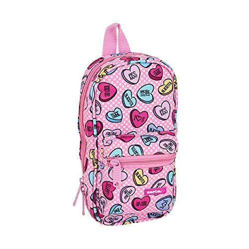 Safta Sweetheart Pink Oficial Neceser con 4 Estuches y /útiles 120x50x230mm