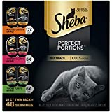 SHEBA PERFECT PORTIONS Wet Cat Food Cuts in Gravy Roasted Chicken, Gourmet Salmon, Tender Turkey...