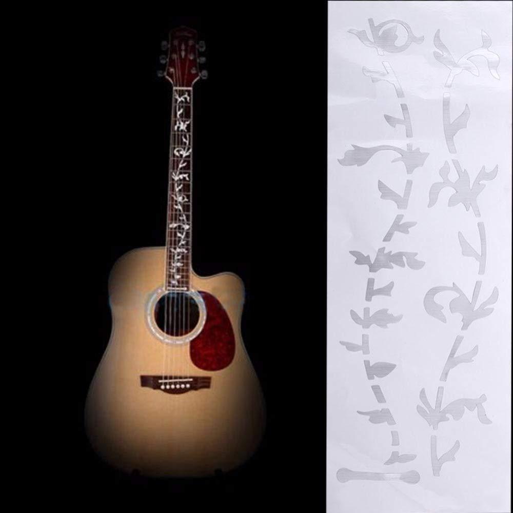 Amazon.com: Leoie Pegatinas de guitarra ac\u00fastica el\u00e9ctrica incrustaciones de calcoman\u00eda etiqueta de diapas\u00f3n ultra fino para accesorios ...