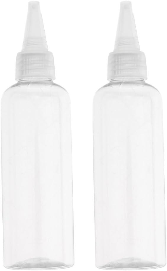 2 Unidades Botella de Plástico Recipientes de Crema Estuche de Loción Tubo 100ml - Gorra transparente