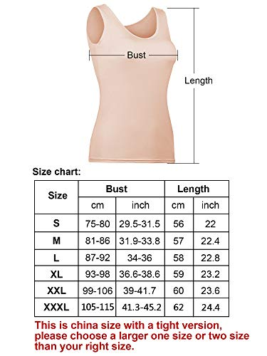 78a43bf977e53 Hestya Women Tank Top Built-in Bra Camisole Padded Cami Top Bra Top Cami for