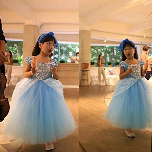Cinderella Dress Princess Costume Party Dress 4-5y by CQDY (Image #4)