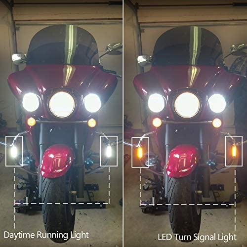 CIRIUS Handlebar or Engine Guard Lights 1.25X3.75BTW Black Textured White Light