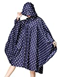 (US) Buauty Womens Hooded Zip Up Waterproof Active Outdoor Rain Jacket Raincoats Lightweight Poncho Plus Size