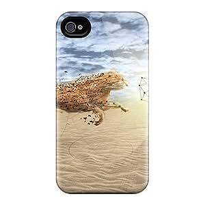 Excellent Design Cheetah Fight Phone Case For Iphone 5/5s Premium Tpu Case