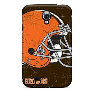 Shock-Absorbing Hard Phone Cases For Samsung Galaxy S4 With Support Your Personal Customized HD Cleveland Browns Pictures CharlesPoirier