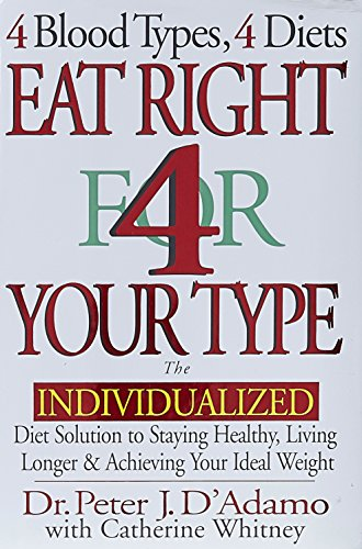 Eat Right 4 Your Type: The Individualized Diet Solution to Staying Healthy, Living Longer & Achieving Your Ideal Weight (Best Solution For Hair Loss Naturally)