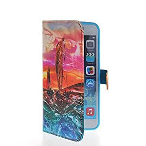 PHONECASE However Oil Painting Flip Leather Wallet Pouch Card Slot Shell a Stand the Case Cover For Apple iPhone 6 Plus days