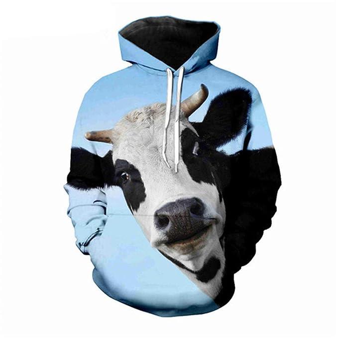Animales Ganado Impresos en 3D para Hombre Sudaderas Hombre/Mujer Sudaderas Hip Hop Ropa de Abrigo Harajuku Funny Hoodie Streetwear: Amazon.es: Ropa y ...