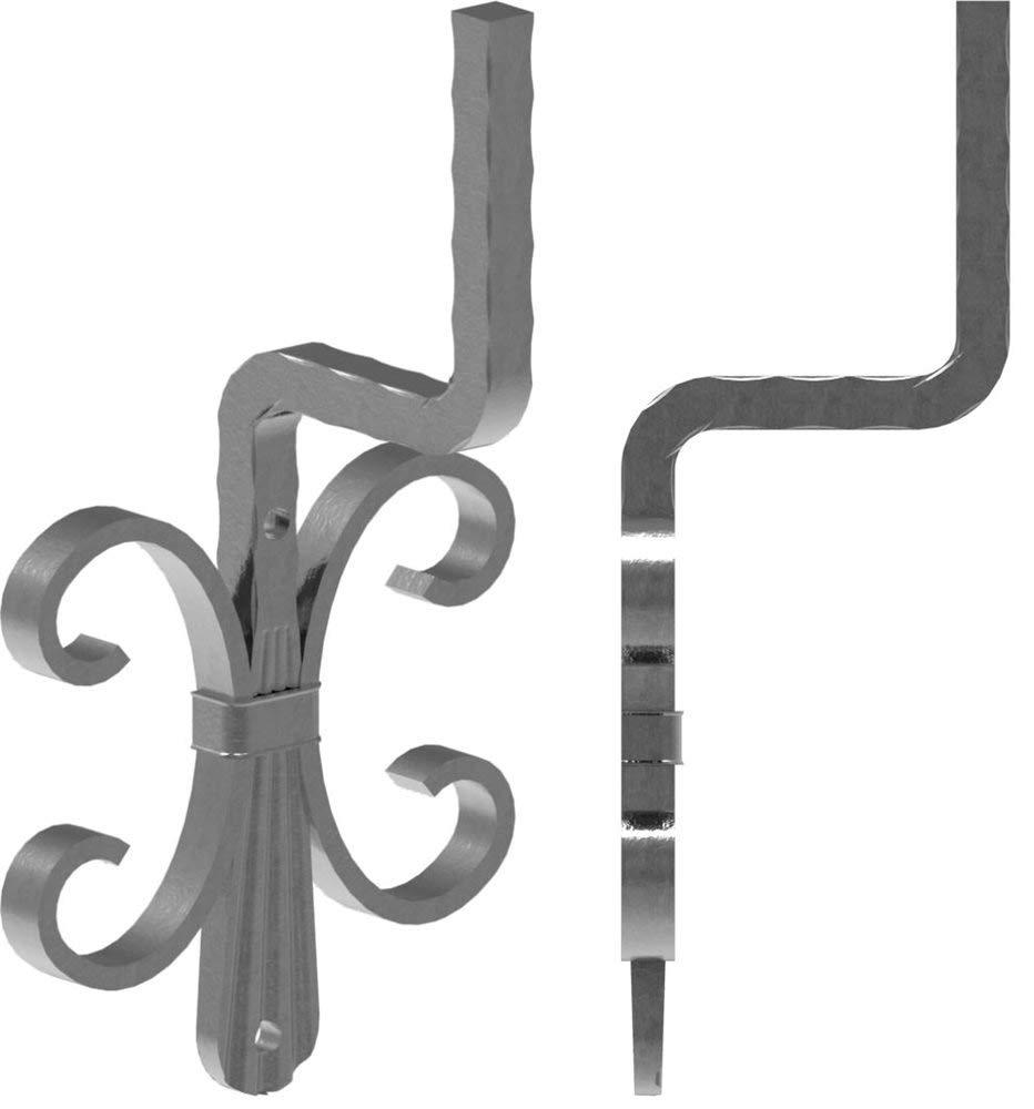 Handlaufhalter Fenau roh Stahl S235JR 128x110 mm Handlauftr/äger Schmiedeeisen f/ür Handlauf//Balkongel/änder oder Treppengel/änder zum Anschwei/ßen