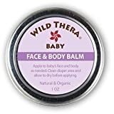 Wild Thera Multipurpose Baby Balm for Face & Body. Gentle herbal balm with coconut oil, lavender, chamomile, calendula and more to hydrate and soothe baby's skin, deliver herbal nutrients. (1 oz)