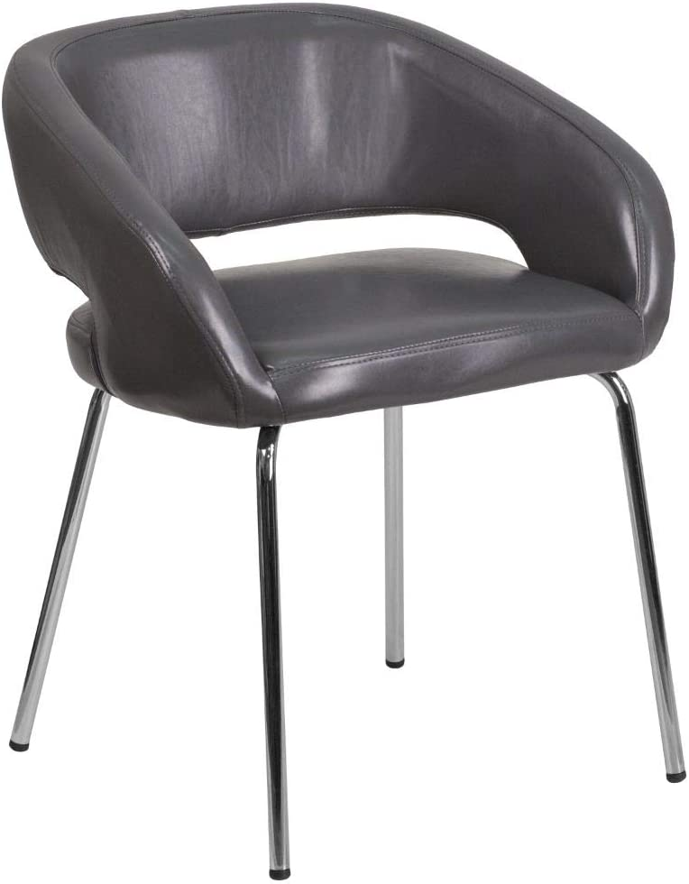 Flash Furniture Gray Leather Side Chair