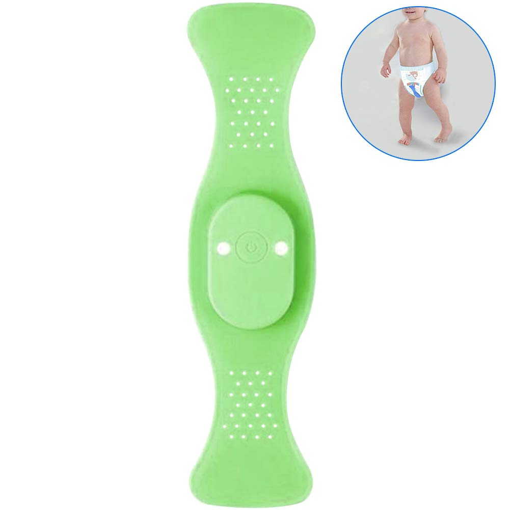 WINGOFFLY Wireless Bedwetting Alarm Bedwetting Solution Enuresis Alarm Incontinence and Arasp Baby Whereabouts Potty Training, Green by WINGOFFLY