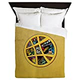 CafePress - Doctor Strange Sanctum Window Collage - Queen Duvet Cover, Printed Comforter Cover, Unique Bedding, Microfiber