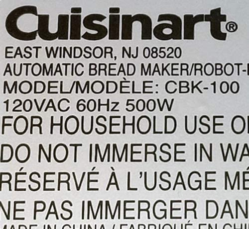 Cuisinart Bread Maker Paddle, For Model CBK-100, CBK-100PDL