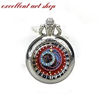 Astrology Pocket Watch Clock Jewelry Astronomy Pocket Watch Astronomical Steampunk Clock Pocket Watch