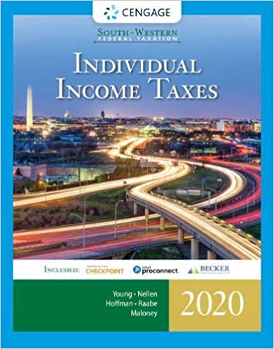 South-Western Federal Taxation 2020: Individual Income Taxes