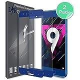 Huawei Honor 9 Pellicola Protettiva, LK [2 Pack] [Copertura Completa] Protezione Schermo Vetro Temperato Screen Protector [Garanzia di Sostituzione a Vita]-Blu