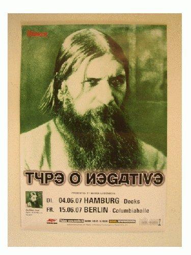 Type O Negative Poster Type-O Rasputin Concert Berlin