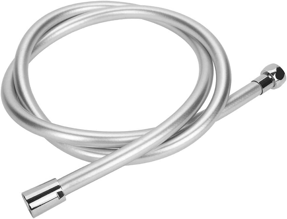 Tubo Flexible de Ducha de Plata de PVC de 1,5 m para Ducha de Mano Simlug Manguera de Ducha para ba/ño