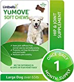 YuMOVE Joint Supplement for Large Dogs - Glucosamine, Green Lipped Mussel, Omega 3, Chondroitin, Hyaluronic Acid - Natural Relief from Hip Ache, Stiff Joints, Inflammation - 30 Chewable Tasty Chews