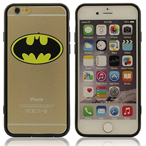 Super Hero Bat Person Pattern Hülle Case Handy Tasche schutzhülle für iPhone 6 4.7 Zoll, iPhone 6 Hülle Flexibel Material Protective Case Starke Defender für Ihr iPhone