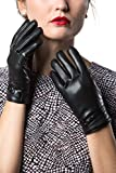 (US) Gallery Seven Women's Winter Gloves Warm Touchscreen Driving Texting Ladies Gloves - Black - Button Design - Small