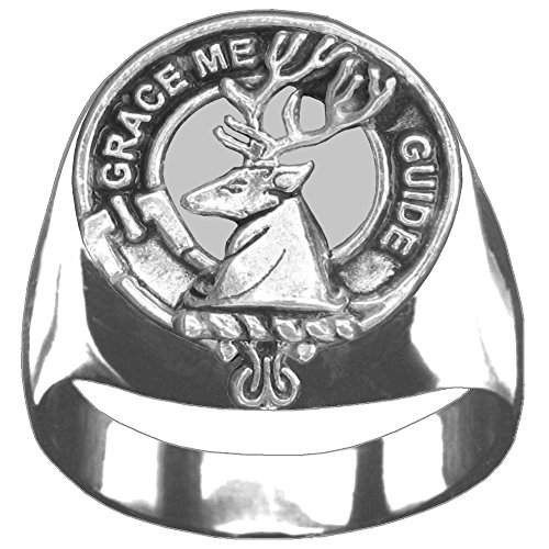 Scottish Clan Crest Forbes Ring GC100 Style - Clan Crest Ring