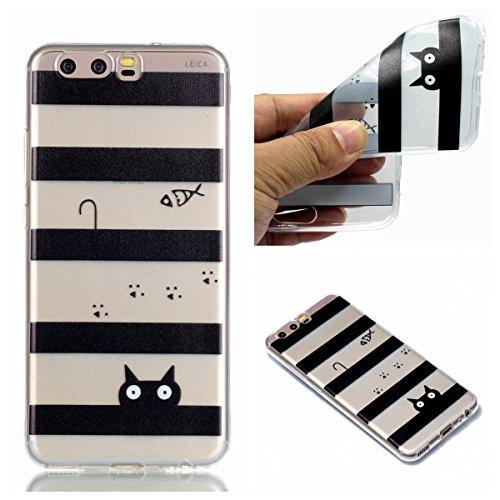 Qiaogle Teléfono Caso - Funda de TPU silicona Carcasa Case Cover para Xiaomi RedMi Note 4 / Redmi Note 4X (5.5 Pulgadas) - YY35 / Negro atrapasueños YY32 / Gato y Pez